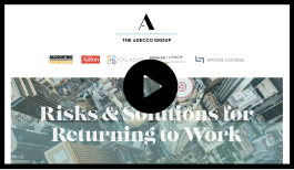 Thumbnail for Risks and Solutions for Returning to Work Webinar